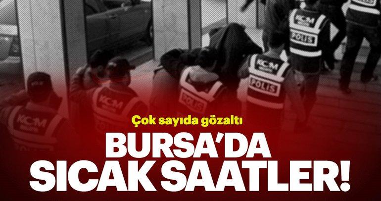 Bursa'da FETÖ/PDY operasyonunda 27 gözaltı