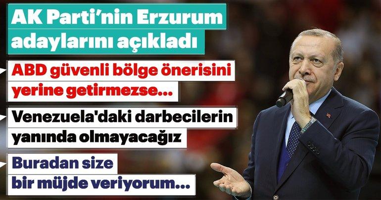 Başkan Erdoğan'dan Erzurum'da önemli açıklamalar!