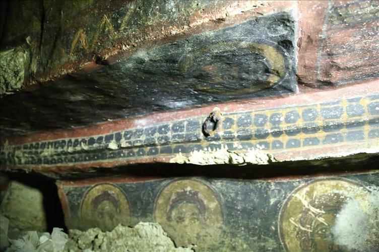 Kapadokya'da bulunan tarihi kilise heyecanlandırdı