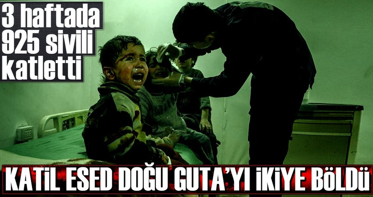Katil Esed Doğu Guta'da 3 hafta 925 sivili katletti