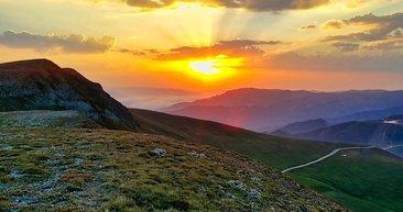 Gümüşhane Zigana Dağı'nda eşsiz günbatımı manzaraları