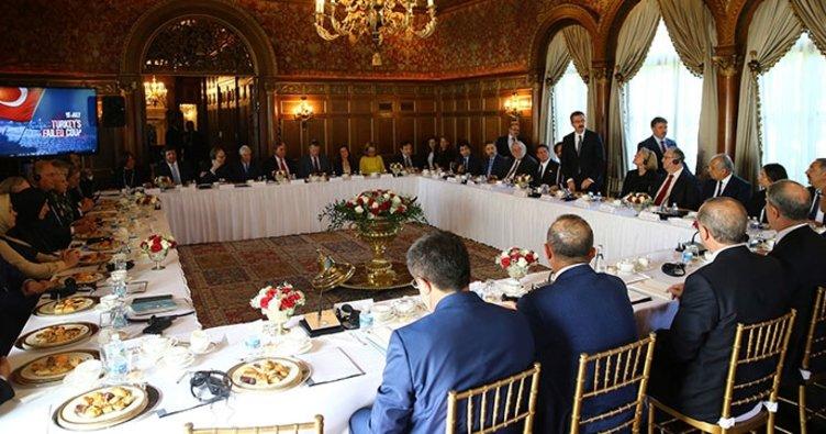 Erdoğan, ABD'li kanaat önderlerini kabul etti