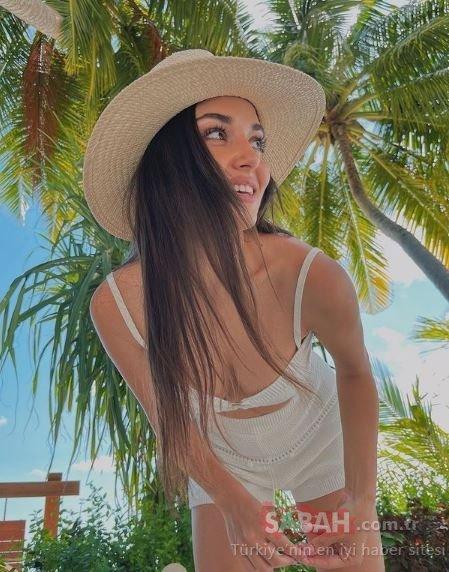 Güzeller güzeli oyuncu Hande Erçel açık pembe tulumuyla sosyal medyayı salladı! Düzgün fiziğine övgüler yağdı …