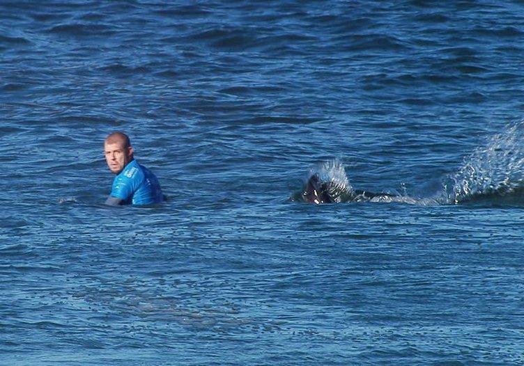 Ünlü sörfçüye köpekbalığı saldırısı!