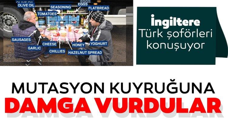 Son dakika haberi: Mutasyon kuyruğuna damga vurdular: İngiltere'de Türk şoförlerin kahvaltısı gündem oldu