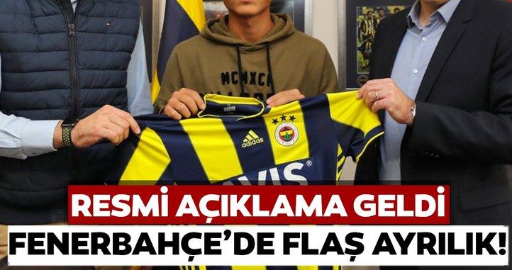 Fenerbahçe'de flaş ayrılık! Resmi açıklama geldi