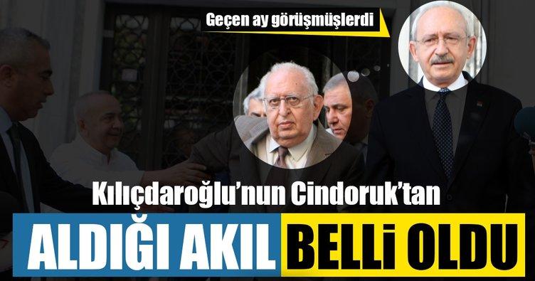 Kılıçdaroğlu Cindoruk'tan akıl aldı: Yürüyüşe geç!