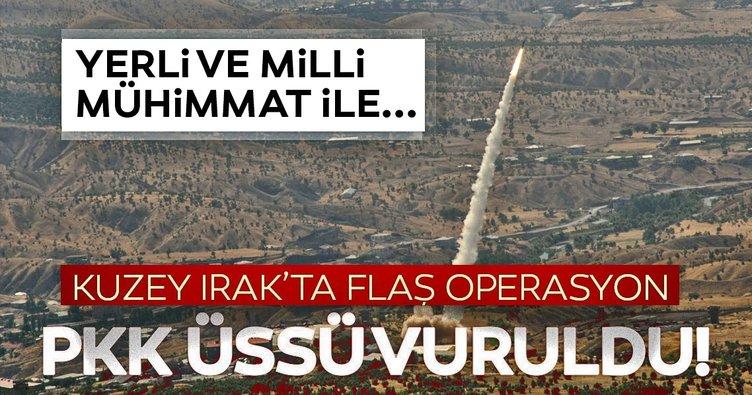 Kuzey Irak'a hava harekatı! Bora füzeleri ve F 16'larımız PKK üssünü vurdu