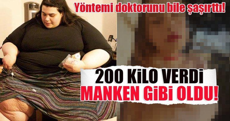 200 kilo verdi manken gibi oldu!