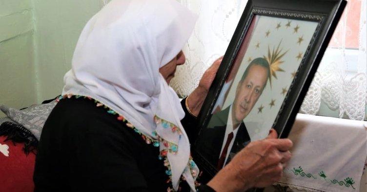 93 yaşındaki Aliye teyzenin Erdoğan sevgisi