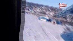Rus uçağının düşme anı saniye saniye görüntülendi | Video