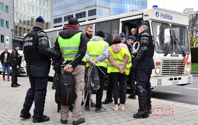 Belçika'da sarı yeleklilerin protestosu başladı