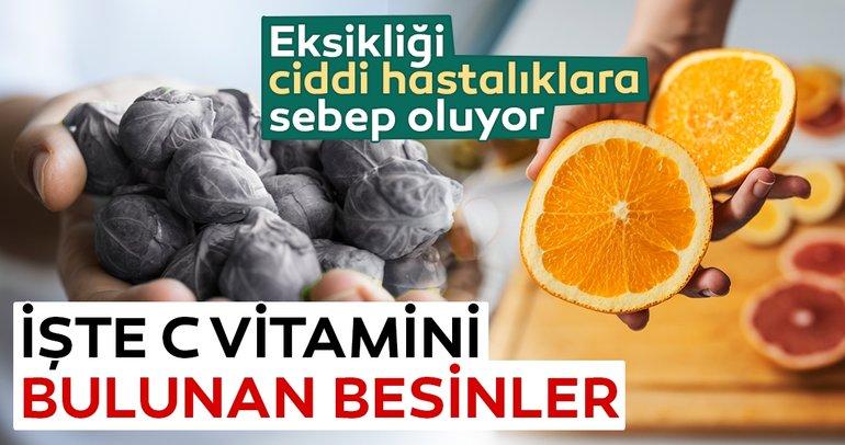C vitamini hangi besinlerde bulunur? İşte C vitamini barındıran besinler...