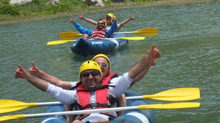 Hakkari'de kano heyecanı