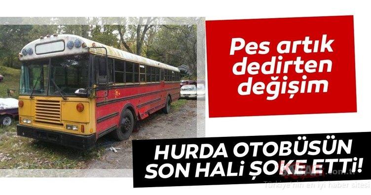 Eski otobüsü saraya dönüştürdüler! İşte muhteşem değişim