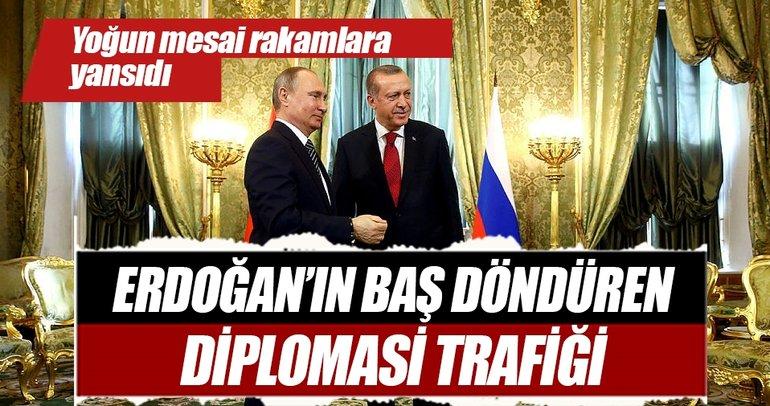 Cumhurbaşkanı Erdoğan'ın baş döndüren diplomasi trafiği