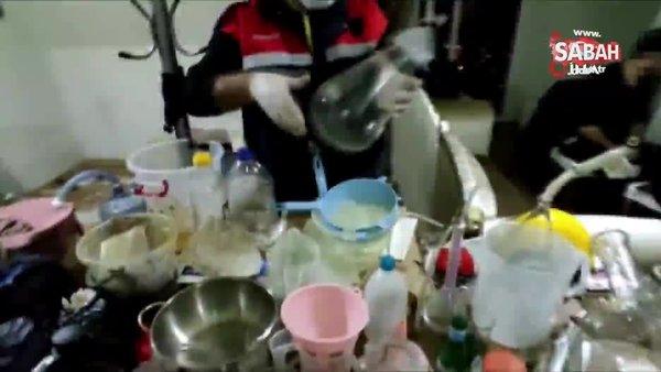Uyuşturucu imalathanesine çevrilen lüks rezidansa jandarma baskını | Video