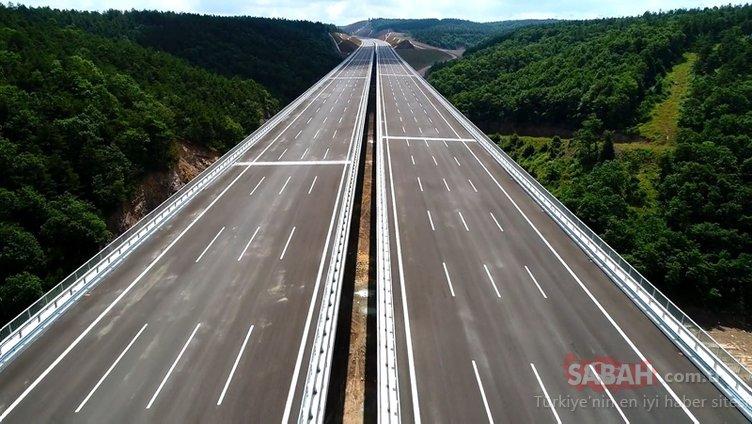 Kuzey Marmara Otoyolu'nun yapım aşamaları görüntülendi! 2 yıl boyunca drone ile kaydedildi!