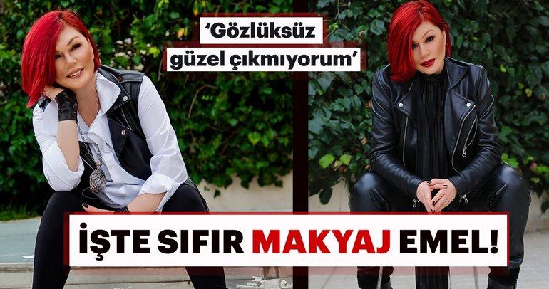 İşte Emel Müftüoğlu'nun sıfır makyajlı hali! 'Gözlüksüz güzel çıkmıyorum'