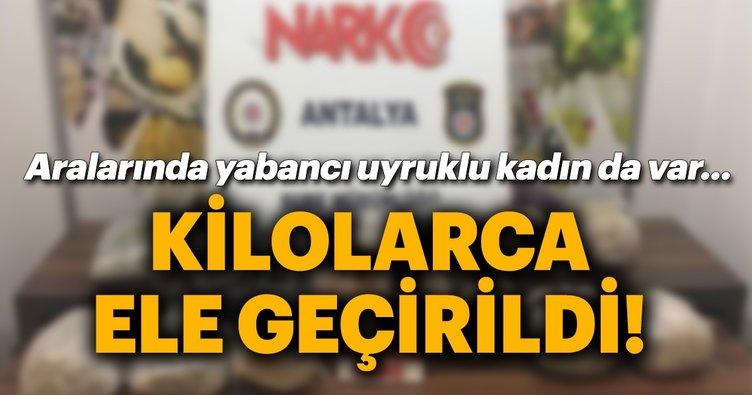 Son Dakika Haber: Antalya'da uyuşturucu operasyonu! 8 gözaltı, kilolarca uyuşturucu...