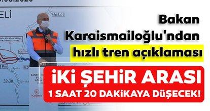 Bakan Karaismailoğlu'dan hızlı tren açıklaması: İstanbul-Edirne arası 1 saat 20 dakikaya düşecek