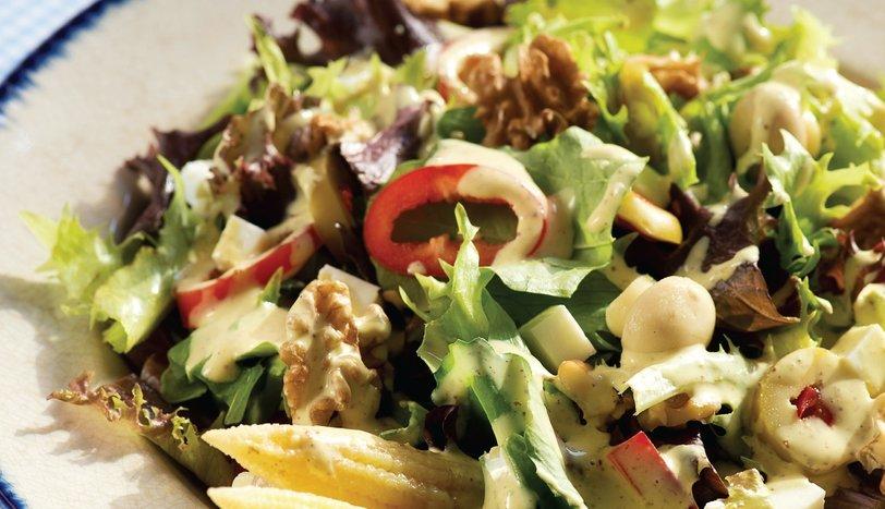 Krema Soslu Salata