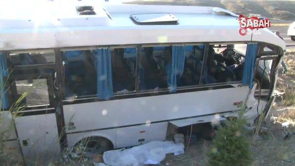 Son Dakika Haberi: Ankara'da ASELSAN çalışanlarını taşıyan midibüse yolcu otobüsü çarptı: 1 ölü, 8 yaralı   Video