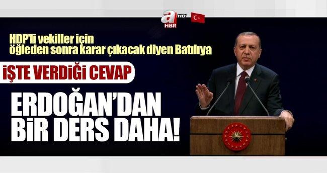 Cumhurbaşkanı Erdoğan'dan kendisine gelen Batılıya önemli ders