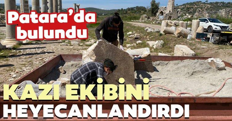 Patara'da bulunan yazıt kazı ekibini heyecanlandırdı
