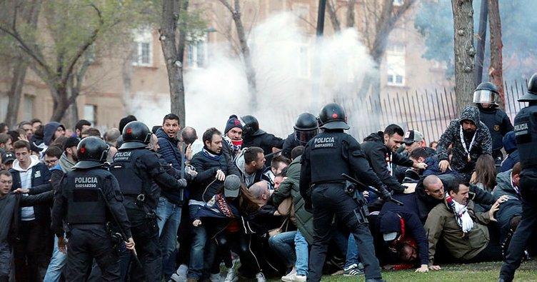 Barselona'da taraftar kavgasında 5 Fransız gözaltında