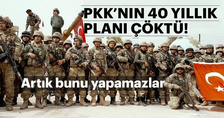 Terör örgütü PKK'nın 40 yıllık planı çöktü