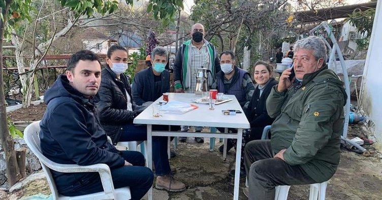 AK Parti Marmaris ilçe teşkilatından yangın mağduru aileye yardım eli