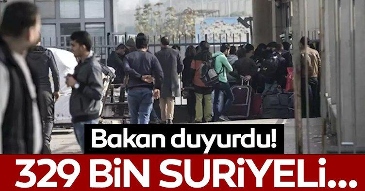 Bakan duyurdu: 329 bin Suriyeli ülkesine geri döndü
