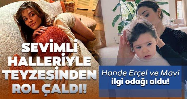 Hande Erçel yeğeni Aylin Mavi'nin en sevimli hallerini paylaştı! Teyze-yeğenin pozları sosyal medyada ilgi odağı oldu