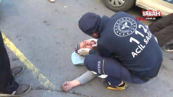 İstanbul'da yanan evde engelli eşinin olduğunu gören kadın bayıldı | Video