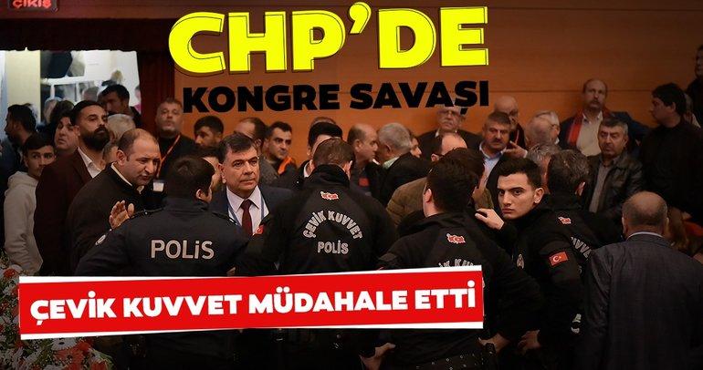 Son dakika: CHP'de kongre savaşı! Çevik kuvvet müdahale etti