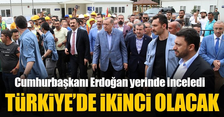 Erdoğan,Rize-Artvin Havalimanı dolgu sahasını inceledi