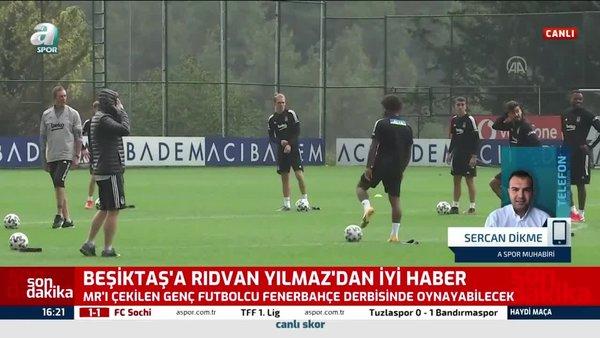Beşiktaş'a iyi haber! Rıdvan Yılmaz Fenerbahçe maçında sahada