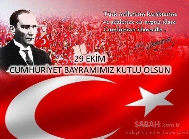 29 Ekim Cumhuriyet Bayramı mesajları ve sözleri: En güzel, anlamlı, resimli Cumhuriyet Bayramı kutlama mesajları ve şiirleri! 'Efendiler Yarın Cumhuriyeti İlan Ediyoruz'