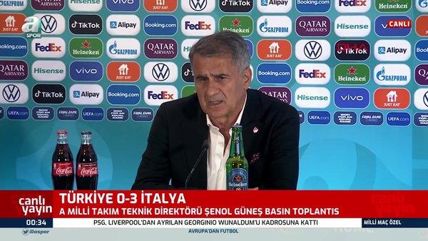 Şenol Güneş'ten İtalya maçı değerlendirmesi