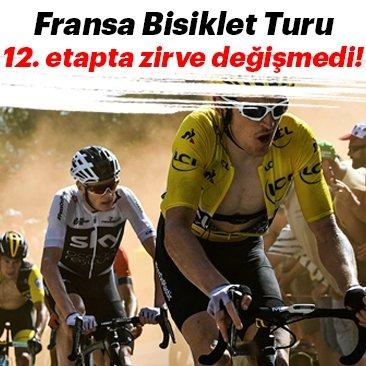 Fransa Bisiklet Turu 12. etapta kazanan Geraint Thomas