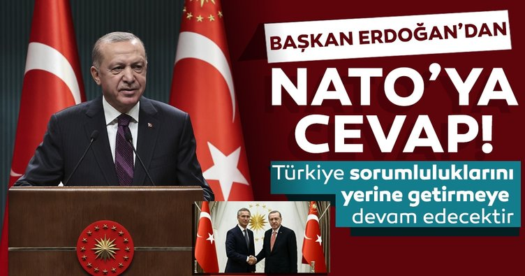 Başkan Erdoğan'dan NATO Genel Sekreteri Stoltenberg'e teşekkür