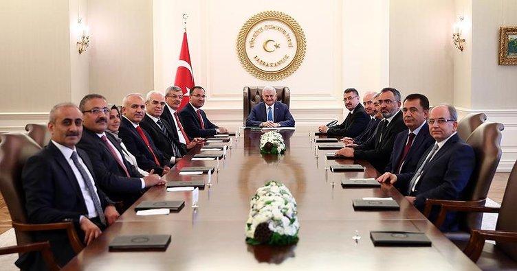 Başbakan Yıldırım HSK üyelerini kabul etti