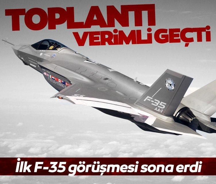 İlk F-35 toplantısı sona erdi! Görüşmeler olumlu geçti