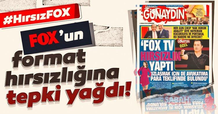 Fox'un hırsızlığına sosyal medyadan tepki yağdı! #HırsızFOX etiketi en çok konuşulan konu oldu!