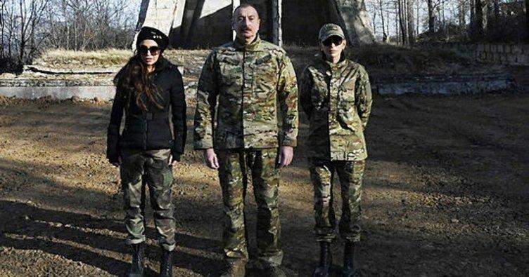Aliyev, Ermenistan işgalinden kurtarılan Şuşa'da