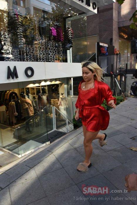 Kosovalı Lady Gaga lakaplı şarkıcı Asya Gashi kırmızı geceliğiyle sokağa fırladı!