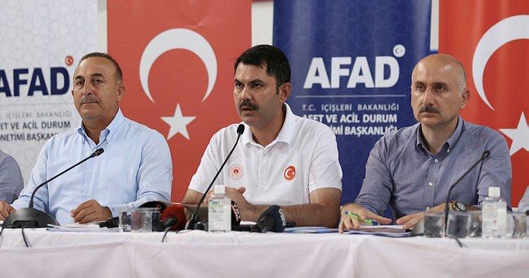Son dakika: 3 Bakandan Manavgat'ta ortak açıklama! Antalya'daki yangınlar İbradı ilçesi hariç söndürüldü