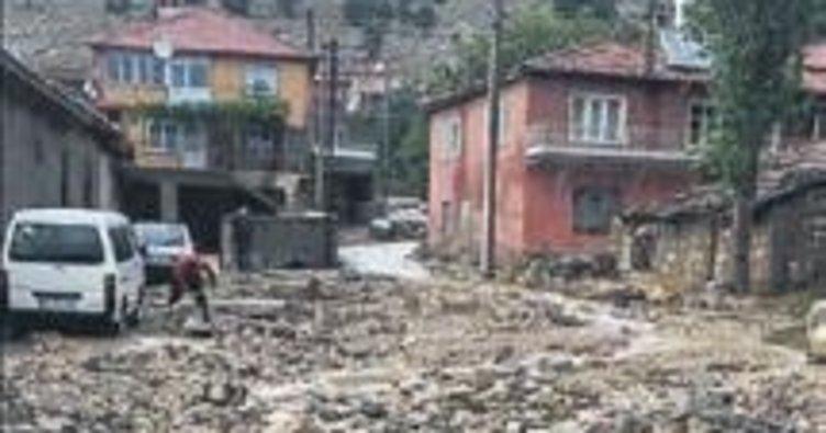 Şiddetli yağış hasara neden oldu