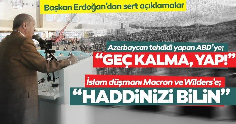 SON DAKİKA! Başkan Erdoğan'dan ABD, Macron ve Wilders'e önemli cevaplar: Haddinizi bilin! Yapacağınızı yapın